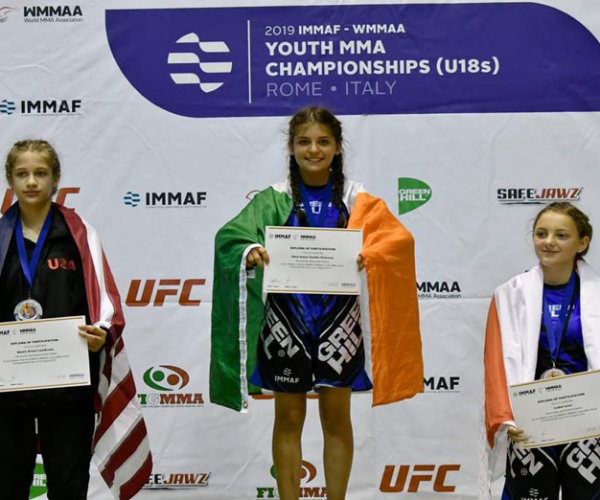 Successful Team Ireland outing as U18 squad take home NINE medals at close of MMA World Championships in Rome